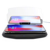 Car Wireless Charging Mobile Phone Navigation Bracket Two In One with QI Fast Charge Base HUD