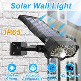 30W 16LED zonnepaneel straatverlichting PIR bewegingssensor 360 ° dimmende buitenwandlamp voor Garden Road Pathway