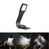 LUSTREON USB Genopladelig Folddæmpbar 4 LED Øjenpleje Reading Book Light Clip på til Kindle IPad