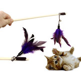 Yani HP-PT1 Pet Tease Cat Stick Pure Goose Feather Wooden Cat Toys Pet Funny Playing Supplies
