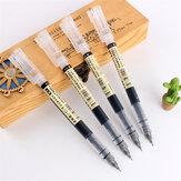 Dianshi 904 1 pièces ensemble de stylo Gel 0.5mm Simple grande capacité stylo à séchage rapide noir / bleu support transparent ensemble de stylo Netural