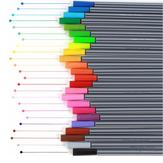 6/12/24 Cores 0.4mm Gancho Linha Canetas Fineliner Canetas Marcador de Aquarela Colorida Conjunto
