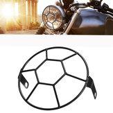 5.75 '' protecteur universel de phare de couverture de gril de football de moto pour le croiseur Harley