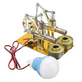 STEM Mini Heißluft-Stirling Motor Generator-Doppelzylinder Motor Modell