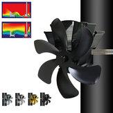 IPRee® YL605P 6-лопастной вентилятор для камина Настенный вентилятор для печи Тихий вентилятор для дровяной печи Вентилятор распределения тепл