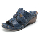 Lostisy Comfy Opened Toe Casual Flower Wedge Sandals