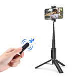 Ulanzi SK-02 Portable 10M bluetooth Remote Control Selfie Stick with Vlog Video Tripod with Extend Microphone Interface