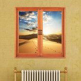 Пустыня 3d искусственный Вид из окна 3d наклейки для стен закат номер наклейки Паг стены дома подарок декора