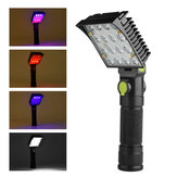 XANES 190B 16x COB 4Colors 4Modes  180° Adjustable Head Magnetic Tail USB LED Flashlight