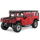 HG P415 atualizado Light Sound 1/10 2.4G 16CH RC Car para Hummer Metal Chassis Vehicles Modelo sem carregador Bateria