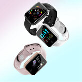 Bakeey I5 Continuo Corazón Rate SpO2 Monitor Weather Pantalla Full Metal Body Smart Watch