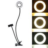 BG12W Гибкий управляемый USB-интерфейс 2 в 1 9 см 12 Вт LED Подсветка для кольца Selfie + держатель для настольного телефона Клип фотография YouTube Video Мак