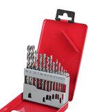 13PCS HSS Fully Ground Straight Shank Twist Drill Bit Set Kit Tool with Metal Case