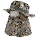 Outdoor UV-proof Fisherman Hat Full Face Protective Sun Hat With Anti-Saliva Dustproof Mask Face Protection Shield