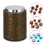 7 Pcs Poliedro Dices Com Dice Cup Role Playing Game Dices Set Jogo de Mesa RPG MTG Multisided Dices