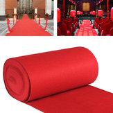 10m/15mVIPкрасныйCarpet Runner Party Decoration Свадебное Проходный одноэтажный коврик для входа
