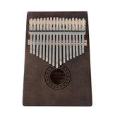 17 Key Kalimba Finger Piano Mbira Mahogany Keyboard Wood Musical Instrument