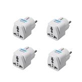 Adaptador de toma de corriente universal de viaje de 4 piezas Reino Unido US Enchufe de conversión de enchufe de UE AU a UE Enchufe Convertidor Conector