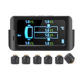 Drahtloses Autoreifendrucküberwachungssystem Externes Solarreifen-TPMS mit 6 Sensoren für 6-Rad-LKW-Transporter
