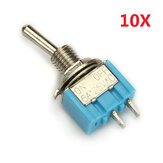 Wendao MTS-101 ON / OFF AC 125V 6A 2 Piny Toggle Rocker Switch 10szt