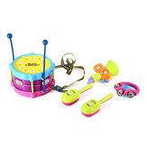 5PCSボーイ&ガール子供ドラムミュージカルおもちゃキット楽器キッズギフト