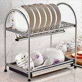 2/3 niveaux égouttoir à vaisselle rack de stockage égouttoir évier séchage filaire vidange cuisine