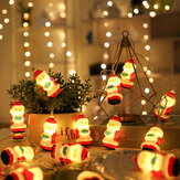 2/3M 10/20 LEDs Christmas Santa String Lights Fairy Lamp Patio Yard Garden Decor