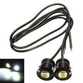 Olho diurna branco que funciona drl reversa de backup luz 12v carro motocicleta Eagle 9W LED