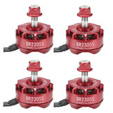 4X Racerstar 2305 BR2305S Fire Edition 2400KV 2-5S Brushless Motor For 210 220 250 300 RC Drone FPV Racing