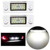2 x Error Free LED SMD License Plate Lights For Audi A4 S4 B5 1998-2001 White