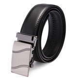 Mens Automatic Buckle Business Leisure Black Leather Belt