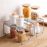 Rack de armazenamento de cozinha Prateleira de armazenamento de armário de metal Prateleira antiderrapante