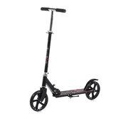Scooter dobrável em liga de alumínio e freio a disco com altura ajustável de 3 níveis e duas rodas scooter para adulto
