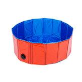 DobrávelCachorroPiscinaPetBathBanheira Inflável Banhos de Banho Dobrável Piscina para Cachorros Cats Kids Portátil Durável Pano Composto de PVC