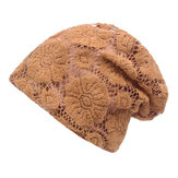 Women Lace Breathable Sunshade Beanie Hat