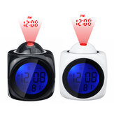Digital Projection Alarm Clock LCD Display Voice Talking Home LED Projector