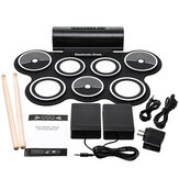 Batterie électronique numérique USB Pads Roll up Drum Set Silicone Electric Drum Pad Kit