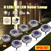 4PCS Solar Powered LED Rasenleuchte Outdoor Garden Wasserdichte Landschaftslampe