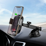 Baseus Intelligent Infrared Sensor Auto Lock 10W Qi Wireless Car Charger Holder For iPhone XS Note 9