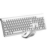 uFound R753 2.4G Wireless Keyboard & Mouse Set Chocolate Button Business Office Silent 106 Keys Keyboard 1200DPI Mouse Kit για Mac Windows