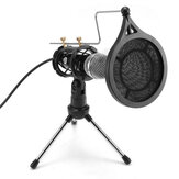 Bakeey Studio Condenser Microphone Set Recording Broadcasting Mic With Stand For PC Phone Karaoke