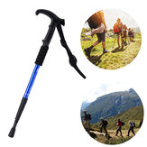 55-110cm 4 Sections Outdoor Sports Folding Trekking Pole Hiking Climbing Stick Elderly Crutches