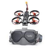 iFlight iH2 HD 2 İnç 120mm Dingil Mesafesi 4S Whoop BNF w / Caddx Vista Digital HD System FPV Racing RC Drone + DJI FPV Gözlükler V2