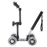 Trilho de Rolagem de trilho Slider Skater Dolly Carro Para DSLR Camera Camcorder com Selfie Varanda Braço Mágico