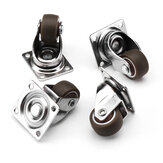 Machifit 4pcs 1 Inch Mute TPE Universal Wheels Mini Casters for Furniture Bookcase Drawer