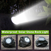Solar Powered LED Rock Light Waterproof Stone Spot Lamp Garden Spotlight Outdoor Lighting