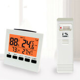 DANIU Wireless Weather Station LCD Digital Thermometer Hygrometer Indoor/Outdoor