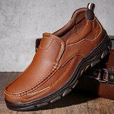 Menico Hombre al aire libre Sport Piel de vacuno Antideslizante Soft Zapatos de senderismo