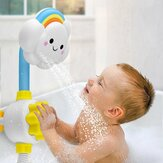 Babybadje douche speelgoed Spray Cloud Rainbow Water Squirt Kraan Kids Bathing Play