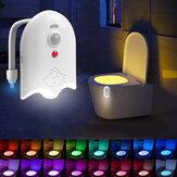 Otomatik Hareket Sensör Tuvalet Gece Işığı 16 Renk Şarj Edilebilir Tuvalet Aroması Lamba Aromaterapi Tabletli Klozet Gecesi